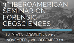 3º Iberoamerican Seminar on Forensic Geosciences Meeting banner