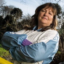 Lorna Dawson in the field
